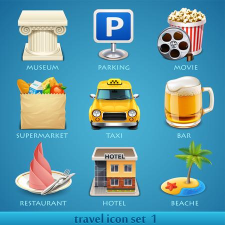 excursions: Travel icon set-1