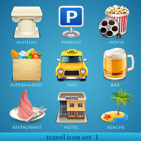 restaurant icon: Travel icon set-1