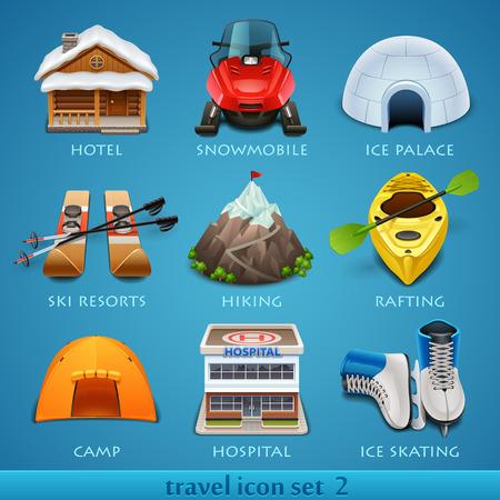 rn3d: Travel icon set-2 Illustration