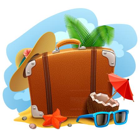travel: Travel suitcase icon Illustration