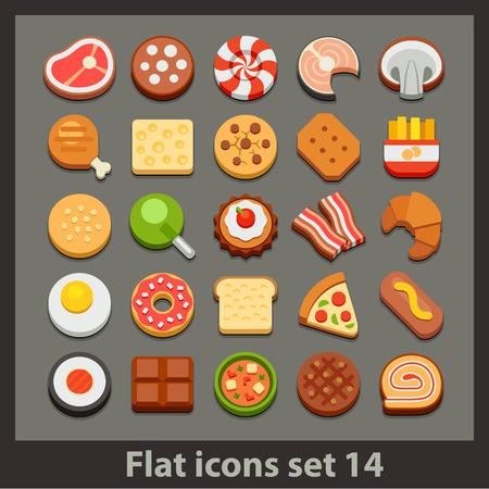 vector flat icon-set 14 Vector