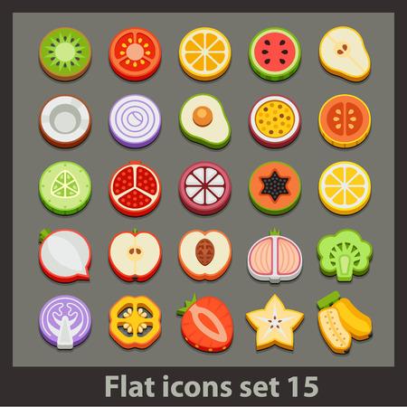 vector flat icon-set 15