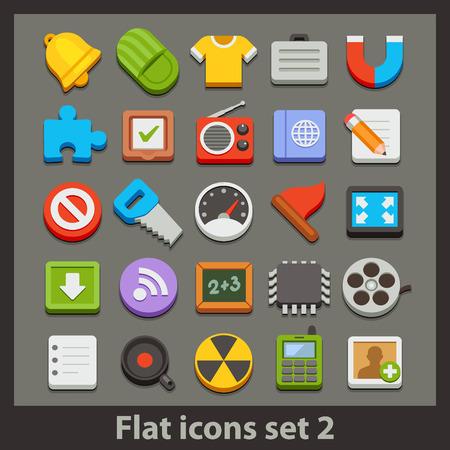 iconset: vector flat icon-set 2 Illustration