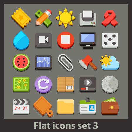 vector flat icon-set 3