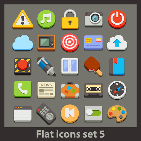 news icon: vector flat icon-set 5