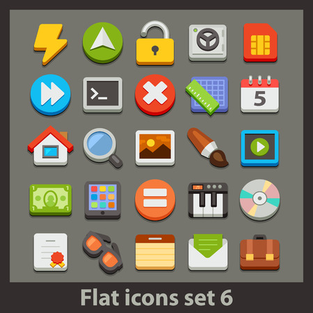 vector flat icon-set 6