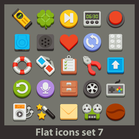 ambry: vector flat icon-set 7 Illustration