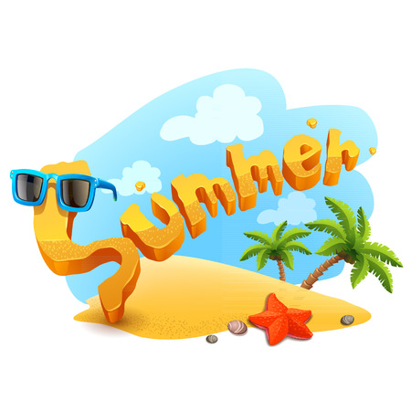 vector summer illustration Ilustração