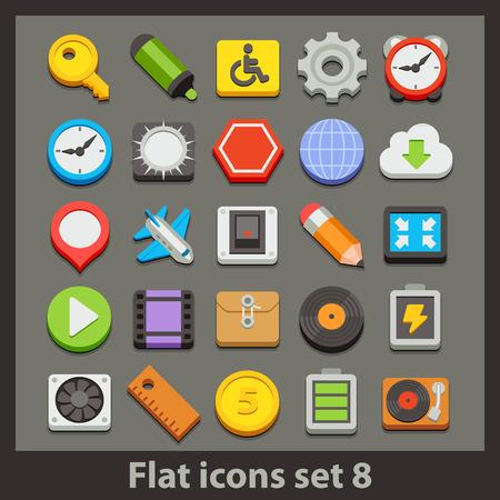 vector flat icon-set 8
