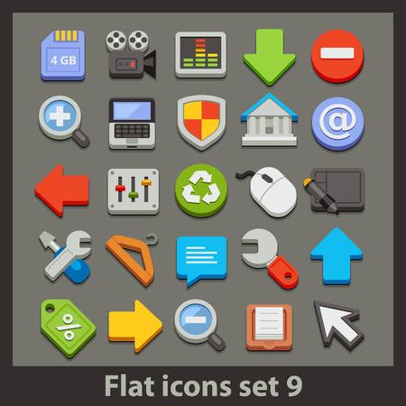 vector flat icon-set 9