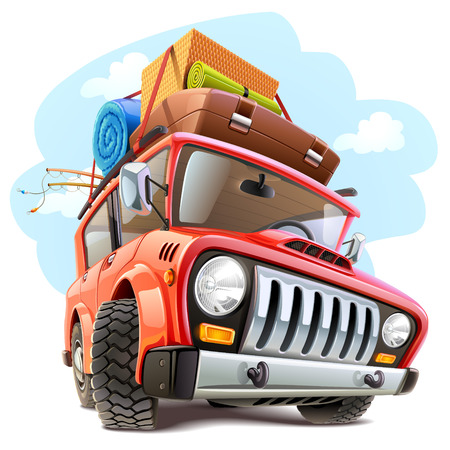 Vector travel car