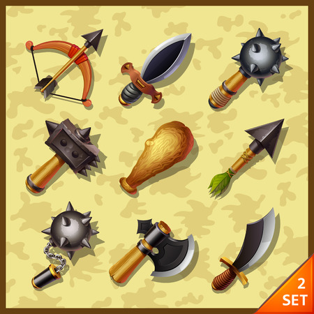 weaponry: weapon icons-set 2