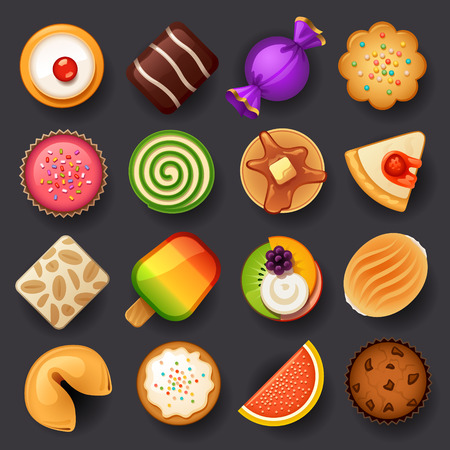 cute chocolate: dessert icon set-3 Illustration
