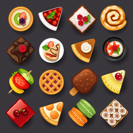 dessert icon set-2 Stock Illustratie