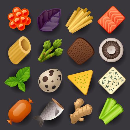 food icon set-2 Vectores