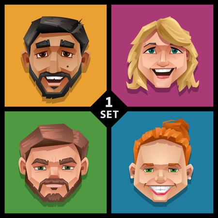 Funny face illustration-set 1 Illustration