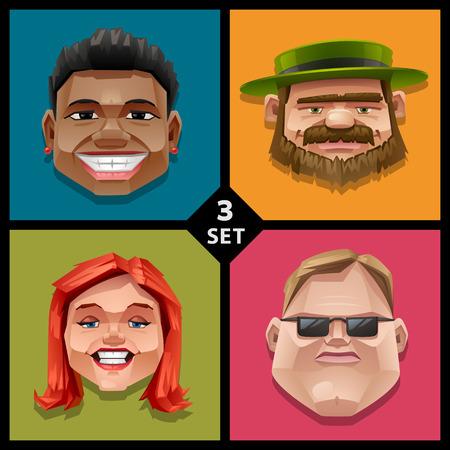 Funny face illustration-set 3