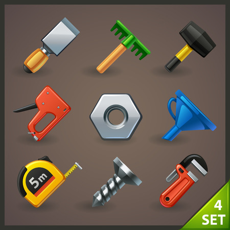 tools icon set-4 Vector