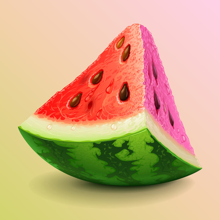 watermelon slice: Watermelon piece