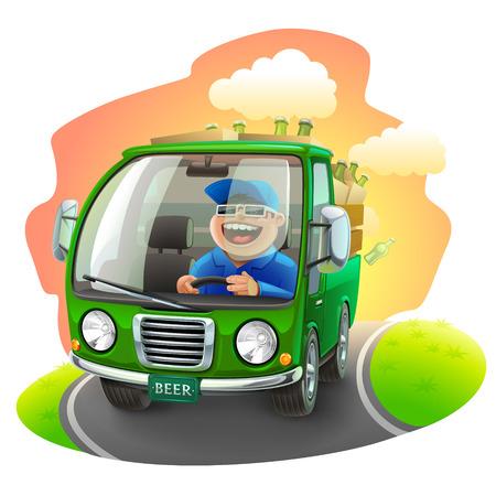 beer car illustration