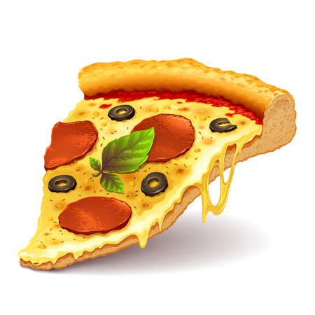 pizza: Cheesy pizza slice