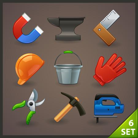 repair shop: tools icon set-6