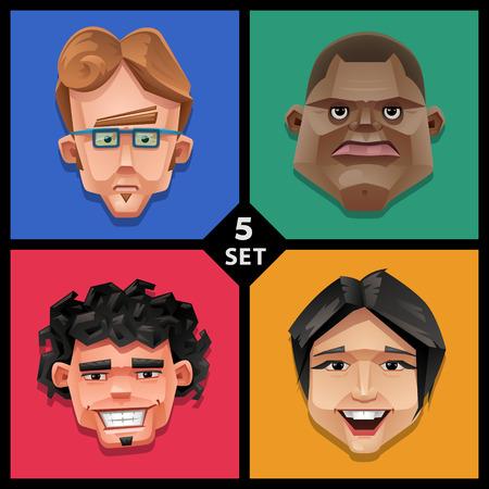 Funny face illustration-set 5