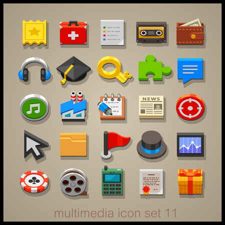 Multimedia icon set-11
