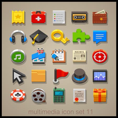multimedia: Multimedia icon set-11