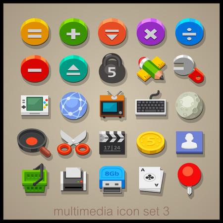 multimedia: Multimedia icon set-3