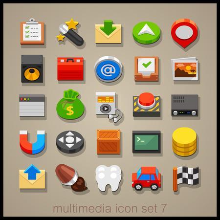 programing: Multimedia icon set-7