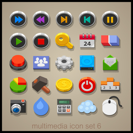 Multimedia icon set-6