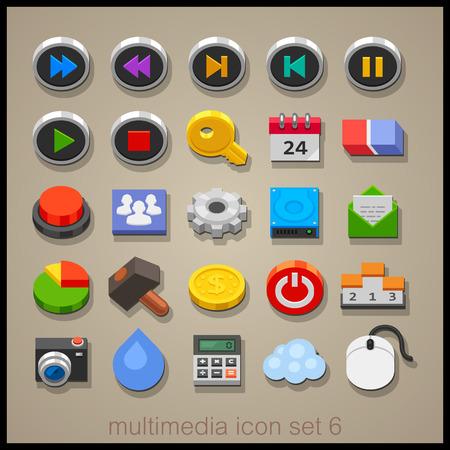 multimedia: Multimedia icon set-6