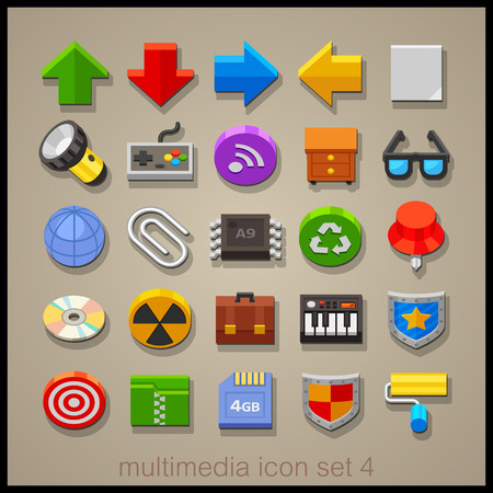 multimedia: Multimedia icon set-4 Illustration