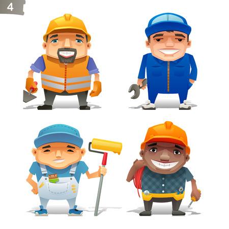 Construction professions set-2  イラスト・ベクター素材