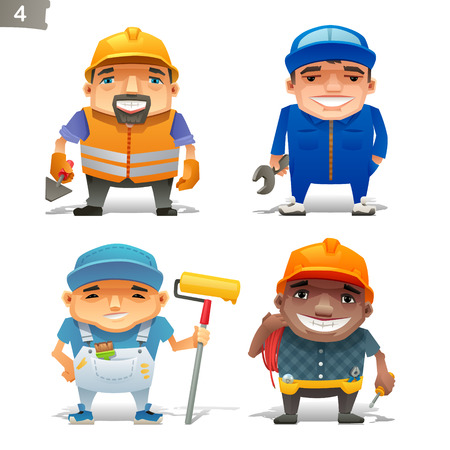 Construction professions set-2 Stock Illustratie