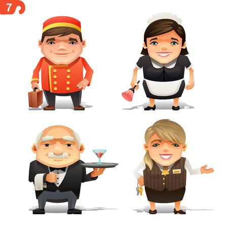 profesiones: Profesiones del hotel fijados