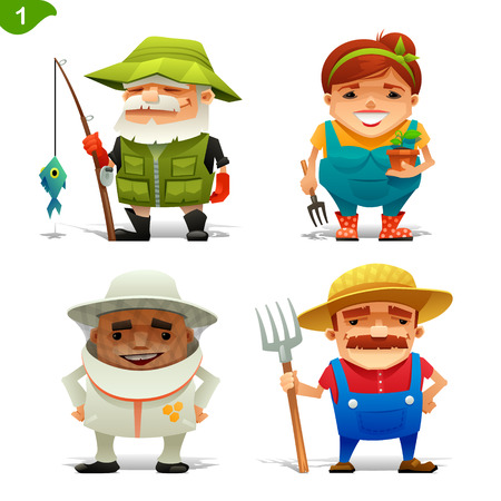 happy farmer: Farm professions set-1