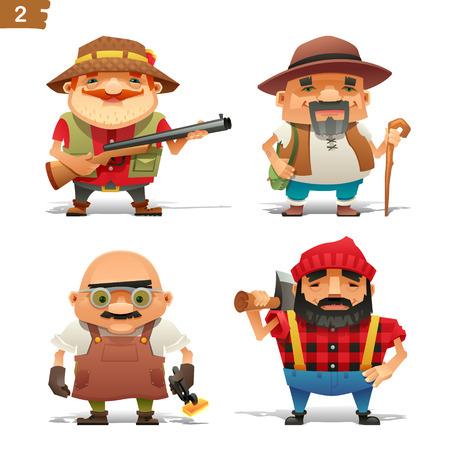 Boerderij beroepen set-2 Stock Illustratie