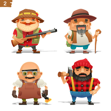 hunter man: Farm professions set-2