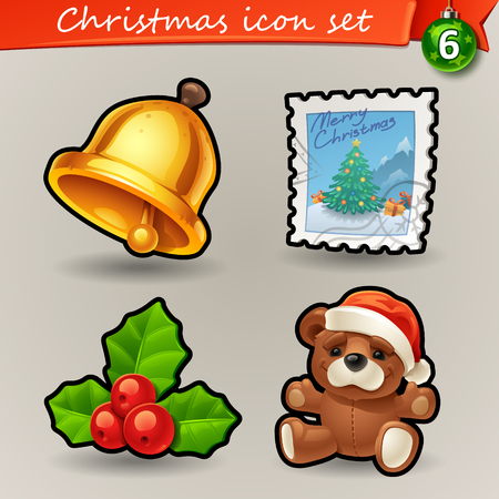 christmas funny: Funny Christmas icons-6 Illustration