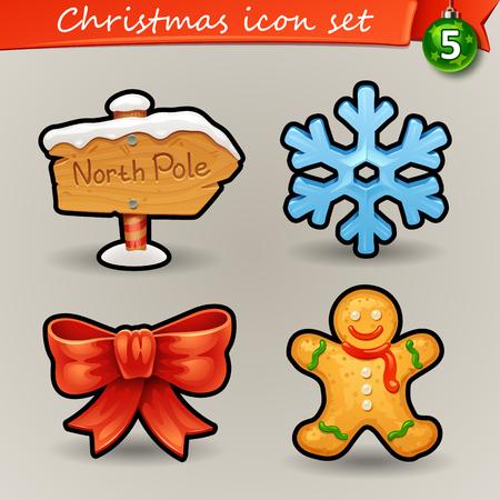north pole sign: Funny Christmas icons-5