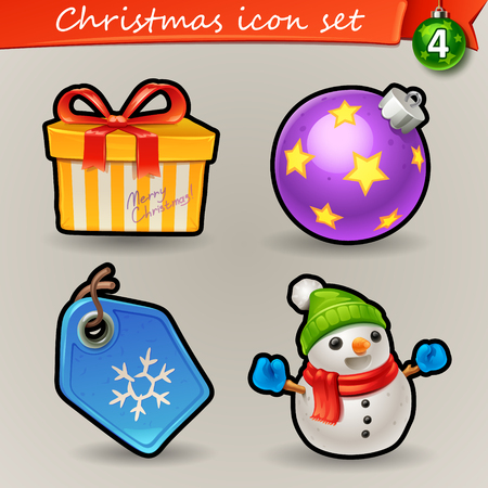 Funny Christmas icons-4 Illustration