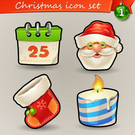 Funny Christmas icons-1 Illustration