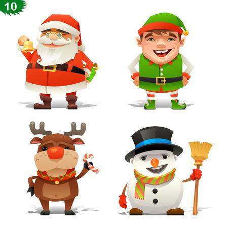 elf hat: Christmas professions set