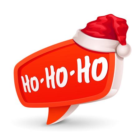 Kerstmis zeepbel voor spraak en kerstmuts Vector Illustratie