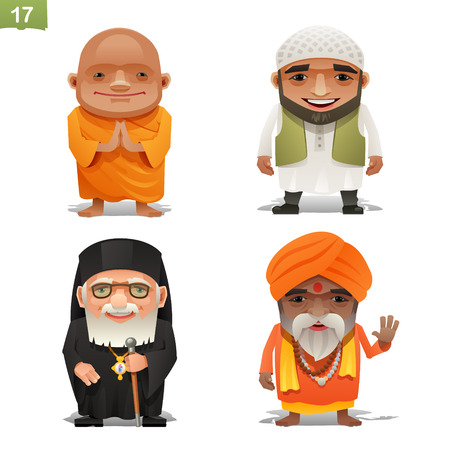 Religie beroepen ingesteld Stock Illustratie