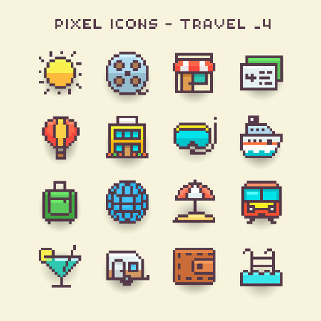 Pixel icons-travel 4
