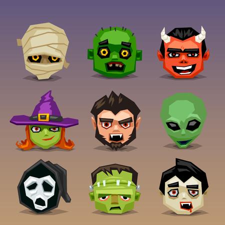 imp: Funny halloween icons-set 5