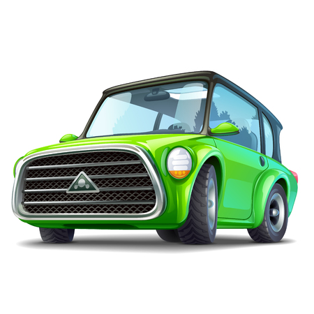Green ecocar illustration